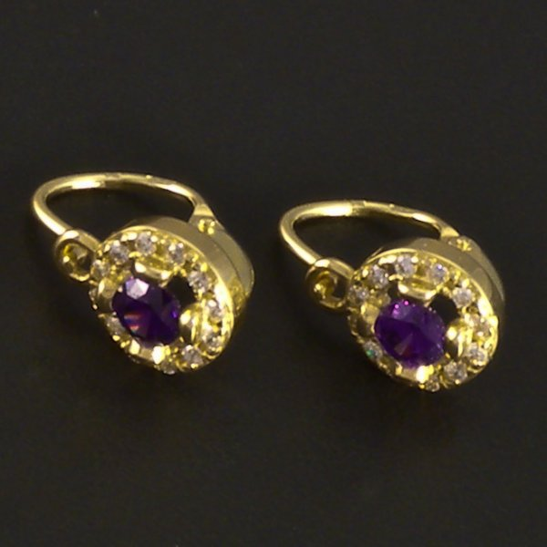 ohrringe amethyst gold