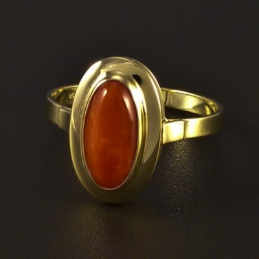 Zlatý prsten s korálem 4720 č.1