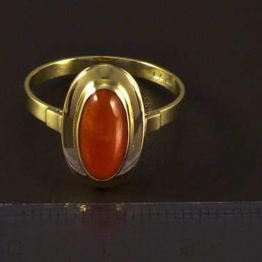 Zlatý prsten s korálem 4720 č.2