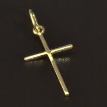 Zlatý jednoduchý klasicky křížek 5159