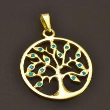 Strom života zlatý přívěs 7740