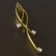 Zlatý přívěsek s kamínky