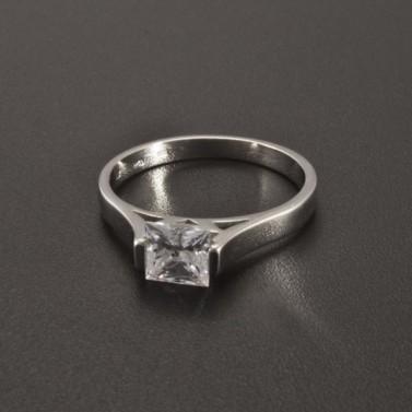 Zásnubní prsten bílé zlato