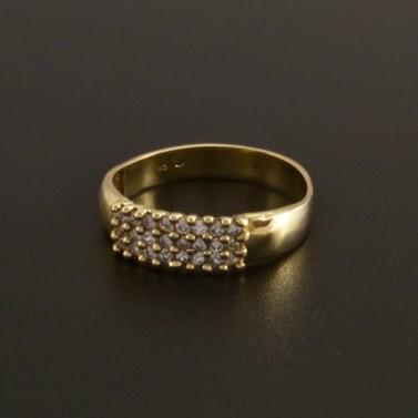 Klasický zlatý prsten se zirkony 2 č.1