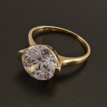 Zásnubní zlatý prsten dominantní kámen 7 č.1