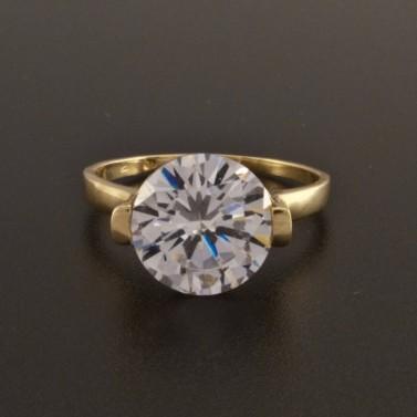 Zásnubní zlatý prsten dominantní kámen 7 č.2