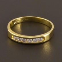 Jednoduchý prsten žluté lesklé zlato 11