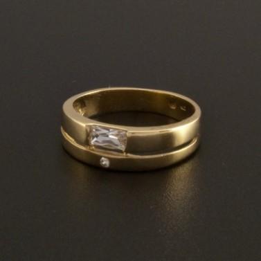 Jednoduchý elegantní zlatý prsten 13 č.1