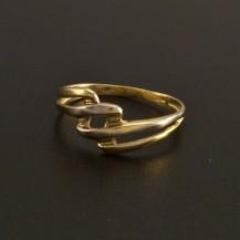 Zlatý prsten žlutobílá kombinace 19