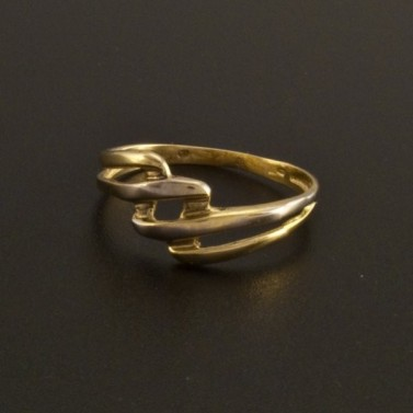 Zlatý prsten žlutobílá kombinace 19 č.1
