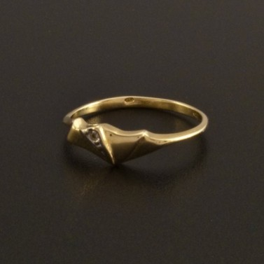Jemný drobný zlatý prstýnek se zirkonem 28 č.1