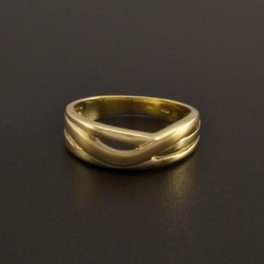 Masivní zlatý prsten leskl a mat 36 č.1