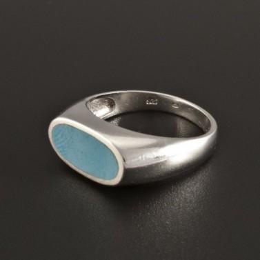 Masivní stříbrný prsten s tyrkysem 233 č.1