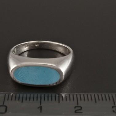 Masivní stříbrný prsten s tyrkysem 233 č.2