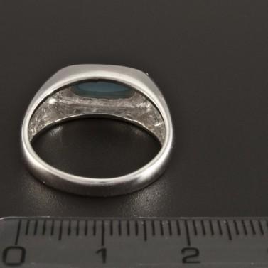 Masivní stříbrný prsten s tyrkysem 233 č.3