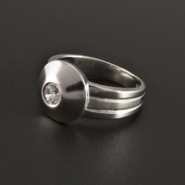 Masivní prsten stříbrný se zirkonem 248 č.1