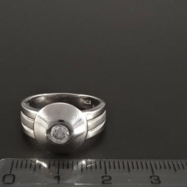 Masivní prsten stříbrný se zirkonem 248 č.2