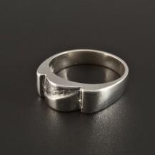 Stříbrný prsten originální tvarová úprava 251