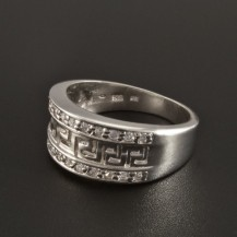 Stříbrný prsten vyřezávaný řecký vzor 291