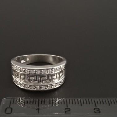Stříbrný prsten vyřezávaný řecký vzor 291 č.2