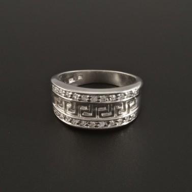 Stříbrný prsten vyřezávaný řecký vzor 291 č.3