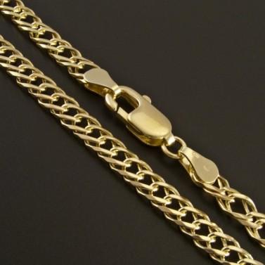 Elegantní zlatý řetízek dvojpancr 343 č.1