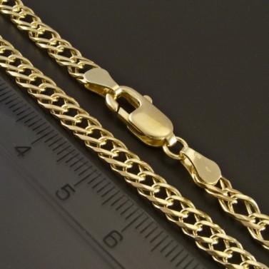 Elegantní zlatý řetízek dvojpancr 343 č.2