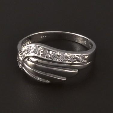 Masivní lesklý prsten z bílého zlata 373 č.1