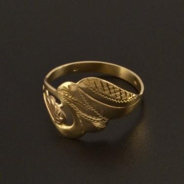Výrazný prsten jemná ruční rytina 754 č.1