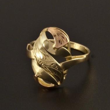 Masivní prsten žluto-červená kombinace 761 č.1