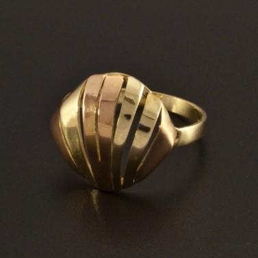 Výrazný prsten žluté a červené zlato 765 č.1