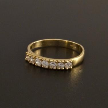 Jemný prsten bílé zirkony 772 č.1