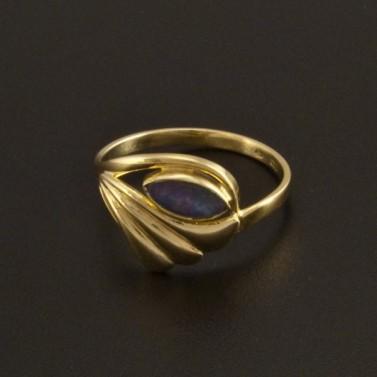 Zlatý prsten opálová tripleta 778 č.1