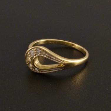 Zlatý prsten ozdoba tvar kapky 780 č.1