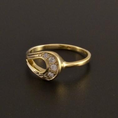 Zlatý prsten ozdoba tvar kapky 780 č.2