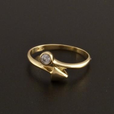 Zlatý prsten  zirkon briliantový brus 791 č.1