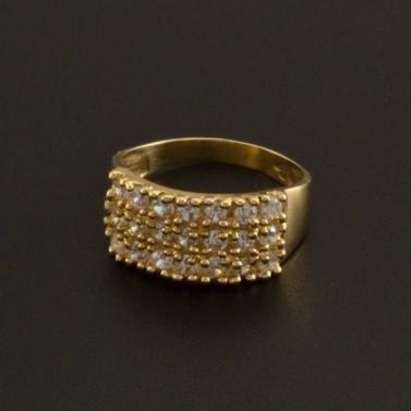 Zlatý prsten osázený zirkony 792 č.1