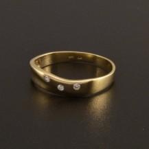 Prsten zlatý jemný hladký 796
