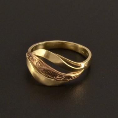 Zlatý ručně montovaný prsten 814 č.1