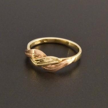 Zlatý prsten dvoubarevný 823 č.1