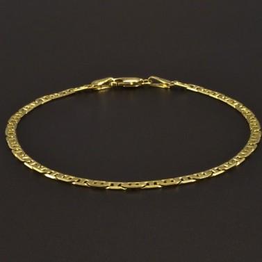 Zlatý náramek uzávěr karabinový 828 č.1