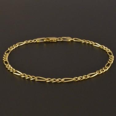 Zlatý náramek figaro vhodný i pro pány 832 č.1