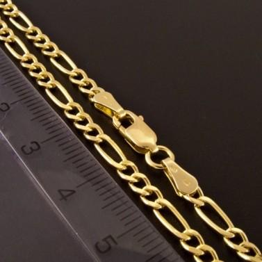 Zlatý náramek figaro vhodný i pro pány 832 č.2