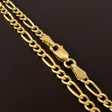 Zlatý náramek figaro vhodný i pro pány 832 č.3