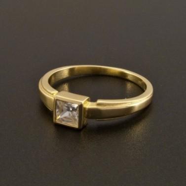 Zásnubní prsten zirkon čtvercový brus 920 č.1