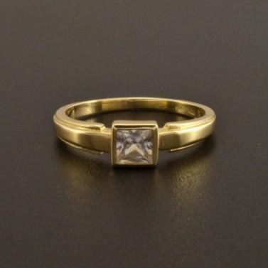 Zásnubní prsten zirkon čtvercový brus 920 č.2