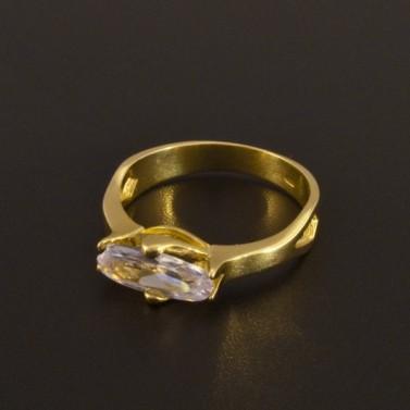 Zásnubní prsten zlatý zirkon oválný brus 923 č.1
