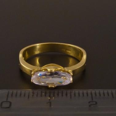Zásnubní prsten zlatý zirkon oválný brus 923 č.2