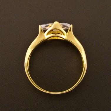 Zásnubní prsten zlatý zirkon oválný brus 923 č.3