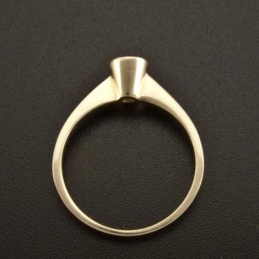 Zásnubní prsten zlatý s bílým zirkonem 925 č.3